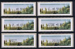 6 ATMs, LISA1, 0.50, E 0,50, P 0.65, LETTRE 0.88, Reçus 1er Jour, 81éme Congrès, FFAP, PARIS 2008 - 2010-... Viñetas De Franqueo Illustradas
