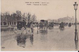 Crue De La Seine - Janvier 1910 - Paris - Esplanade Des Invalides - ELD - Inondations De 1910