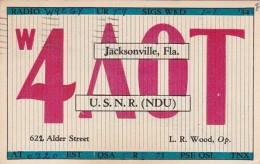 Florida Jacksonville QSL Card 4 A 0 T L R Wood 1934 - Jacksonville
