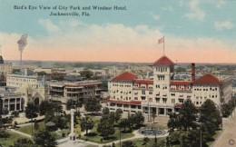 Florida Jacksonville Birds Eye View Of City Park And Windsor Hotel - Jacksonville