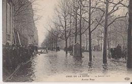 Crue De La Seine -  29 Janvier 1910 - Avenue Rapp - ELD - Inondations De 1910