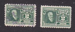 Costa Rica, Scott #128, 128a, Used, Mint No Gum, Rodrigo Arias Maldonado, Issued 1924 - Costa Rica