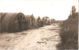 Carte-photo 80 (Somme) Soyécourt - Baraquements Provisoire Sur La Place 1920 TBE Bien Animée - Autres Communes