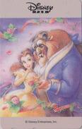 Télécarte NEUVE Japon / 110-011 - DISNEY - Série FAN - BEAUTY & THE BEAST - Japan MINT Phonecard TK - Disney