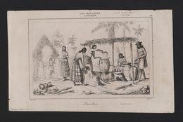 RARE MARIANA ISLANDS XIX CENTURY ANTIQUE ORIGINAL PRINT Distillery Alcohol Drink - Postcards