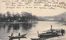 Wilno Lithuania - On The River, Steam And Row Boat - 1910 - Lithuania