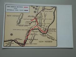 ETATS-UNIS NM NEW MEXICO CARTE MAP  THE INDIAN DETOUR AND OPTIONAL SIDE TRIPS - Etats-Unis
