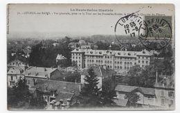 LUXEUIL LES BAINS EN 1917 - N° 70 - VUE GENERALE PRISE DE LA TOUR SUR LES NOUVELLES ECOLES - CPA VOYAGEE - Luxeuil Les Bains