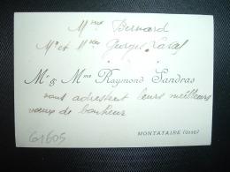 CARTE DE VISITE RAYMOND SANDRAS à MONTATAIRE (OISE) - Cartes De Visite