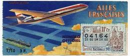 LOTERIE NATIONALE - 1/10eme Ailes Francaises - 11eme Tranche 1963 - Billets De Loterie
