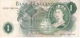 Bank Of England Einen Pound   Banknote In Gebrauchtem  H72W - 1952-… : Elizabeth II