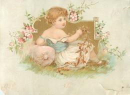 CHROMO - IMAGE DOREE - ENFANTS - Trade Cards