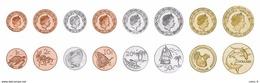 TOKELAU 2017 FULL 8 COINS HIGH GRADE FAUNA SET - Monnaies