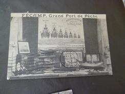 CPA 76 Seine Maritime Pub Fécamp Grand Port De Pèche Bellet Armement Salaisons    TBE - Fécamp