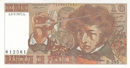 Billet 10 F Berlioz Du 3-3-1977 FAY 63.21 Alph. D.295 P/NEUF - 1962-1997 ''Francs''
