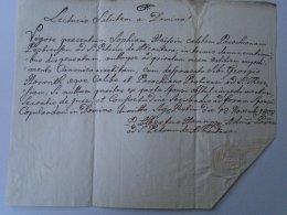 AV508A.14 Old Document - Haisz Sophia -Georgio Horváth - Pest -Hungary  1808 - Fiançailles