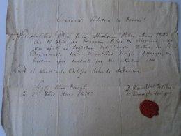 AV510.1 Old Document - Matthias PILLER - Georgio Asperger 1814 Kiss Dorogh Dorog - Geboorte & Doop