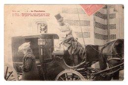 CPA   LE POURBOIRE---LA DAME-MAINTENANT, CECI EST POUR VOUS---LE COCHER-DE QUOI! DU CHICHI POUS 2 SOUS---1905 - Taxi & Carrozzelle