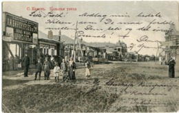 KAMEN Street Life 1916 Vinoukourov Shop W. OMSK Censor To Denmark - Russland