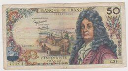 BILLET 50 FRANCS RACINE . E.6-12-1962.E   .  N° 0082379204  . Z.33 - 1962-1997 ''Francs''