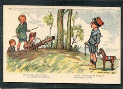 CPA - Illustration Poulbot - Halte-là, Qui Vive! ... Le Général Joffre - Guerre 1914-18