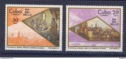 CUBA 1985 JOURNEE DU TIMBRE  YVERT N°2623/24  NEUF MNH** - Cuba