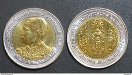 Thailand Coin 10 Baht Bi Metal 2003 150th HM King Rama5 Y409 UNC - Thaïlande
