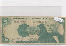 Billets - B2801-Vénézuela - 20 Bolivares 1989 (type, Nature, Valeur, état... Voir  Double Scans) - Venezuela