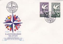 Portugal 1960  FDC  NATO (DD10-13) - Militaria