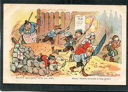 CPA - Illustration Raoul Vion - Sauve Qui Peut, Vl'a Un 420 - Guerre 1914-18