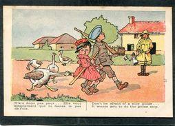CPA - Illustration - N'aie Donc Pas Peur... Elle Veut Simplement Que Tu Fasses Le Pas De L'oie - Guerre 1914-18