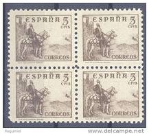 España 0816A ** B4. Cid. Pie Corto. Dentado 10 3/4. 1937 - 1931-50 Nuovi