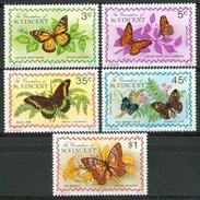 1975 S.Vincent E Grenadine Farfalle Butterflies Schmetterlinge Papillons MNH** B587 - St.Vincent & Grenadines
