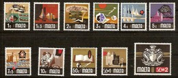 Malte Malta 1973 Yvertn° 463-473 *** MNH Cote 34,40 Euro Série Courante 4 Petites Valeurs Manquent - Malta