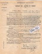 VP11.561 - LYON 1921 - Police - Lettre De La Préfecture Du Rhône  Concernant Mr THIEBAUD Aux DEUX FAYS - Police & Gendarmerie