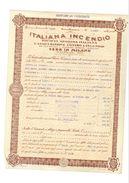 POLIZZA ASSICURAZIONE ITALIANA INCENDIO 1934 - Azioni & Titoli