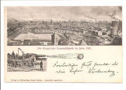 Essen. Die Kruppsche Gusstahlfabriek Im Jahre 1902. MIT KUGEL!! Handgeänderte Jukskarte - Essen
