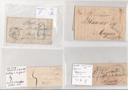 BELGIQUE  4 LETTRES POUR NICE    A ETUDIER - 1830-1849 (Belgique Indépendante)
