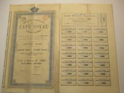 Café Royal Verviers - Action Au Porteur - Actions & Titres