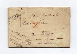 !!! PRIX FIXE: DEPT CONQUIS, 104 L'ERIDAN, MARQUE POSTALE EN FRANCHISE DE L'ETAT MAJOR DE L'ARMEE DU PIEMONT - Postmark Collection (Covers)