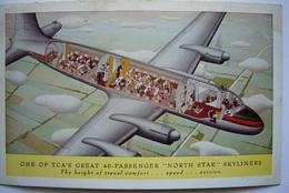 Avion / Airplane / Trans-Canada Air Lines / Douglas DC-4 / Advertising Card / Pub / Airline Issue - 1946-....: Era Moderna