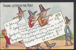 Wales Postcard - Taking Letter To The Post DC847 - Pays De Galles