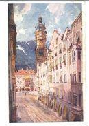 POSTAL    INNSBRUCK  - AUSTRIA  -TECHO DE ORO  ( GOLDENES DACHL- TOIT D'OR ) - Innsbruck