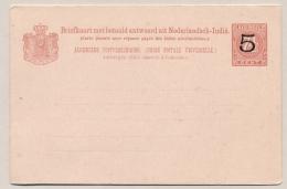 Nederlands Indië - 1908 - 5+5 Cent Opdruk Op 7,5+7,5 Cent Cijfer, Briefkaart G19a, Ongebruikt - H&G 20 - Netherlands Indies