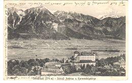 POSTAL    INNSBRUCK  - AUSTRIA - CASTILLO DE AMBRAS U. KARWENDELGEBIRGE Y MONTAÑAS ( SCHLOSS AMBRAS U. KARWENDELGEBIRG) - Innsbruck