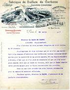 Fabrique De Sulfure De Carbone Et Produits Chimiques, Ets. Henri DEISS Fils, 15 Rue Volta, Paris - Frankreich