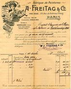 Fabrique De Peinture A. FREITAG Et Cie, 155 Rue Fbg. St. Denis, Usine à AUBERVILLIERS, 1908 - Frankreich