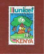 KENYA  -   SG 407 -  1987  /  UNICEF    -  USED° - Kenia (1963-...)