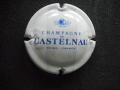 """CAPSULE De Champagne """"CASTELNAU"""" - Bleu Roi Sur Fond Blanc - Champagne"""