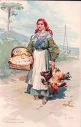 Alberto Della Valle, Italie, L'Uvaiola, Venditrice Di Uova, Litho (439) - Altre Illustrazioni
